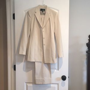 Express $130 cream stretch pant suit